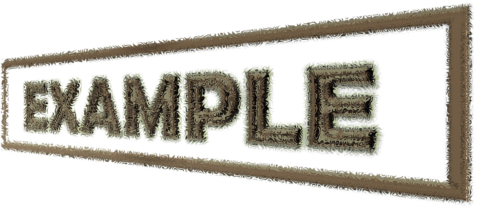 The word EXAMPLE emphasizing the power of examples