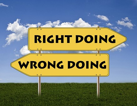 Sign Right Doing Go Right Wrong Doing Go Left